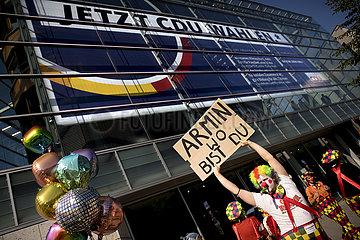 Laschet-Protestaktion ClownsDerUnion