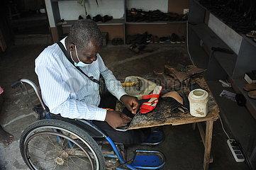 Ghana-Accra-deaktivierte Mannscheiben
