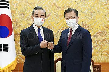 Südkorea-Präsident-China-Wang Yi-Treffen
