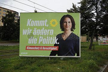 Wahlplakate zu den Bundestagswahlen 2021