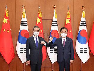 Südkorea-FM-China-Wang Yi-Talks