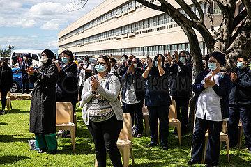 Südafrika-Kapstadt-Healthcare-Arbeiter-Konzert von Dankbarkeit