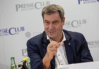 Markus Söder im Pressegespräch
