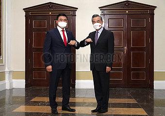 TAJIKISTAN-DUSHANBE-WANG YI-MONGOLIAN DEPUTY PM-MEETING