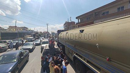 LEBANON-BEKAA-TANKER TRUCKS-IRANIAN OIL-RECEIVING