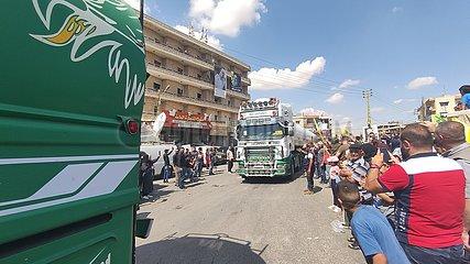 Libanon-Bekaa-Tanker-LKW-iranischer Ölempfang