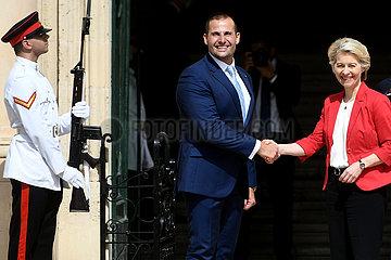 Malta-Valletta-Europäischer Kommission-Präsident-Besuch