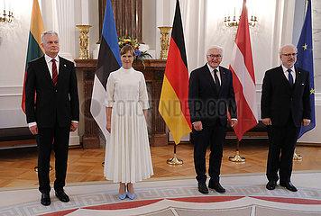 Empfang der Praesidenten der baltischen Staaten Estland und Lettland  Schloss Bellevue