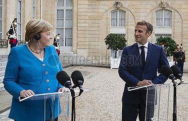 Frankreich-Paris-Macron-Merkel-Meetings