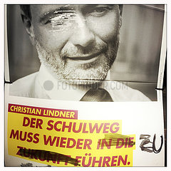 Christian Lindner  FDP Wahlplakt
