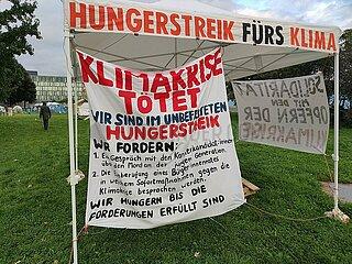 Hungerstreik-Camp