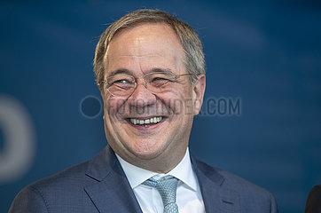 Armin Laschet  CDU  Kanzlerkandidat  Wahlkundgebung  Augsburg  17. September 2021