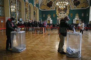 Russland-Moskau-Staat-Duma-Wahlen