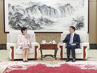 CHINA-GUANGDONG-SHENZHEN-HAN ZHENG-CARRIE LAM-MEETING (CN)