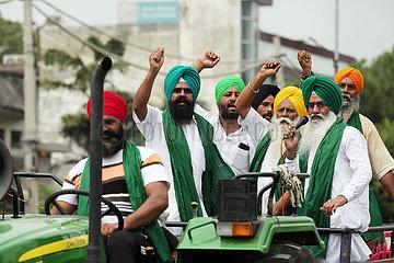 Indien-Punjab-Landwirte-Protest