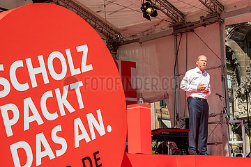Olaf Scholz zum Wahlkampf in München