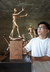 China-Shijiazhuang-hölzerner mechanischer Installations-Handwerker (CN)