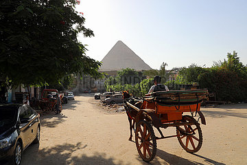 Ägypten-Giza-Pyramiden-Wohngebiete-tägliches Leben