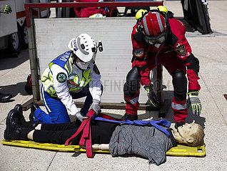 Mexiko-Mexiko-Stadt-Erdbeben-Nationalbohrer