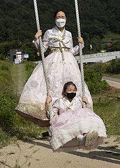 Südkorea-Jeonju-Chuseok-Tourismus