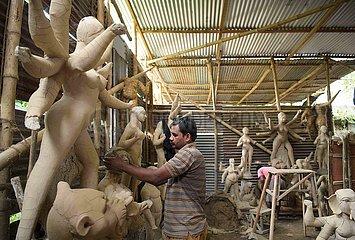 Indien-Agartala-Idol machen