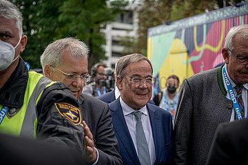 CDU CSU Kanzlerkandidat Armin Laschet in Augsburg