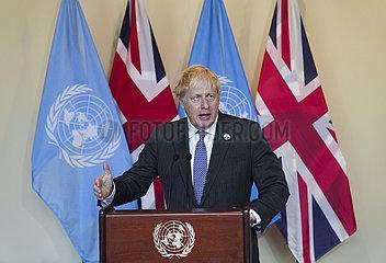 Un-britische PM-informelle Führungskräfte rundet auf Klimaschutz