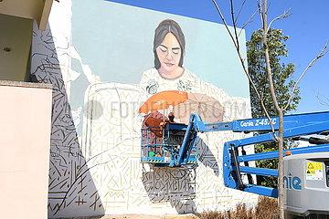 Marokko-Rabat-Street-Kunstfestival-Wandbild