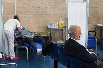 Italien-Rom-Booster-Covid-19-Impfstoff