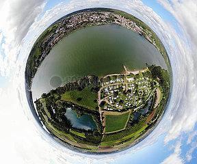 Panorama Luftbild Rhein Nierstein