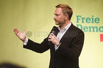 Wahlkampfveranstaltung der FDP mit Christian Lindner in München am 21.09.21