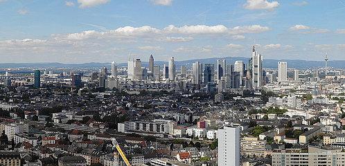Panorama Luftbild Neuer Henninger Turm  Frankfurt am Main
