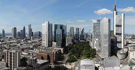 Panorama Luftbild Skyline Frankfurt am Main