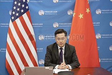 US-Washington-Qin Gang-China-U.S.-Relation-Konversation