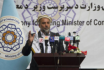 AFGHANISTAN-KABUL-ACTING MINISTER OF COMMERCE AND INDUSTRIES-CEREMONY