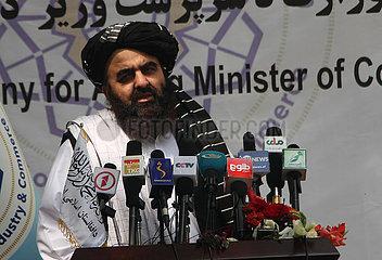 Afghanistan-Kabul-agierende FM-Rede