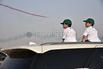 Saudi-Arabien-Riad-Airshow-Nationaler Tag