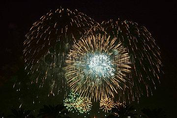 Saudi-Arabien-nationale Tag-Feuerwerk-Show