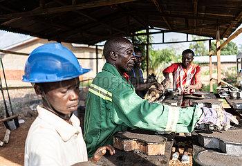 Zentralafrikanische Republik-Bangui-Ziegelsteinherstellung
