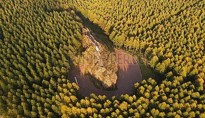 China-Hebei-Saihanba-Wald-Bauernhof-Herbstlandschaft (CN)
