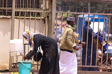 Uganda-Kampala-Covid-19-Moschee-Wiedereröffnung