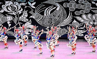 China-Peking-ethnische Minderheiten-Kunst-Festival-Schließung (CN)