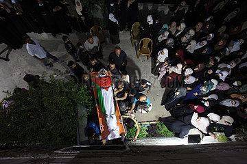 MIDEEST-BEITE-PALESTINIANISCHES MAN-Begräbnis