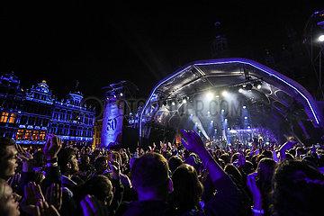 Belgien-Brüssel-Fest von Wallonien-Brüssel-Föderation-Konzert