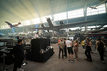 Belgien-Brüssel-Live-elektronische Musikshow