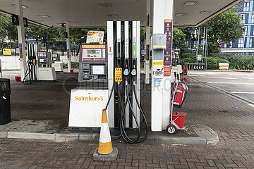 BRITAIN-LONDON-LORRY DRIVERS-SHORTAGE-GAS STATION