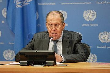 UN-RUSSIA-FM-PRESS CONFERENCE