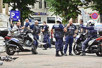 Polizeieinsatz in Marseille