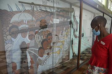 UGANDA-KAMPALA-MUSEUM-VISIT