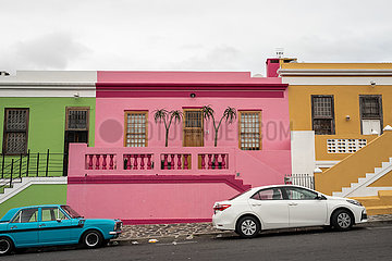 SOUTH AFRICA-CAPE TOWN-BO KAAP-COLORFUL HOUSES